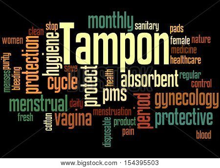 Tampon, Word Cloud Concept 6