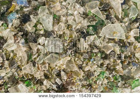 background colorful  textures of broken glass shattered, broken glass pieces debris, cracked