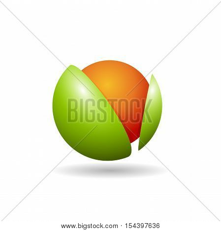 Vector logo abstract Greengrocer in abstract shape