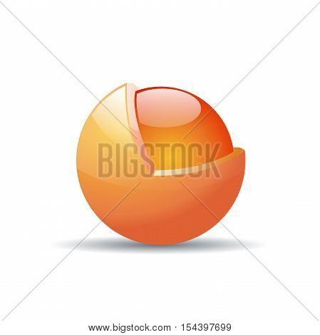 Vector logo metamorphosis protected sphere in abstract shape