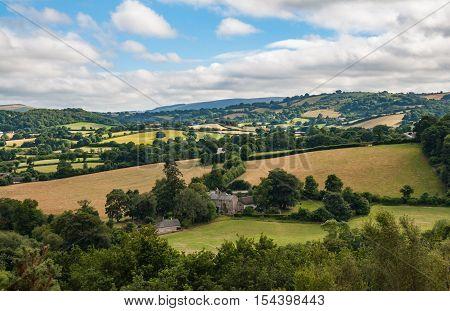 A landscape of Dartmoor National Park, England
