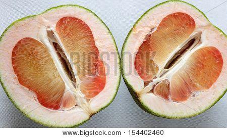 Grapefruit On White Background, Tropical Fruit