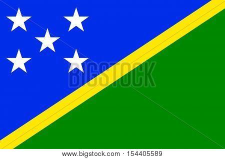 Flag of Solomon Islands Honiara - Melanesia