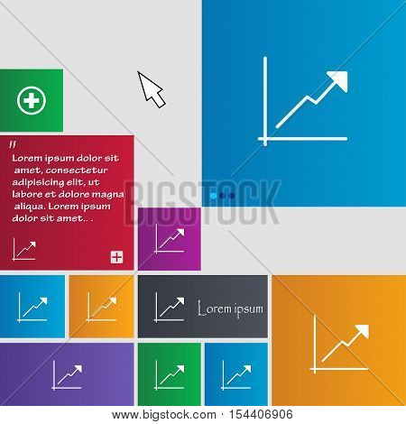 Chart Icon Sign. Buttons. Modern Interface Website Buttons With Cursor Pointer. Vector