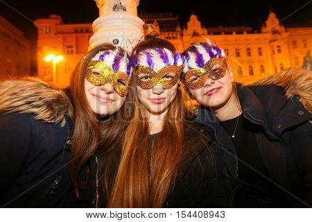 Halloween, Zagreb, Croatia.
