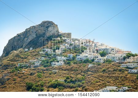 View of the town of Skyros island. Sporades. Greece