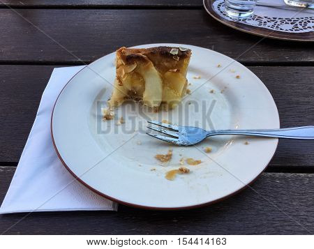 Piece Of Almost Eaten Apple Pie