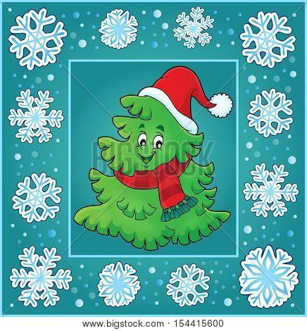 Christmas topic greeting card 7 - eps10 vector illustration.