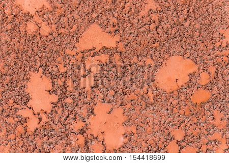 red striated stucco wall modern decorative texture