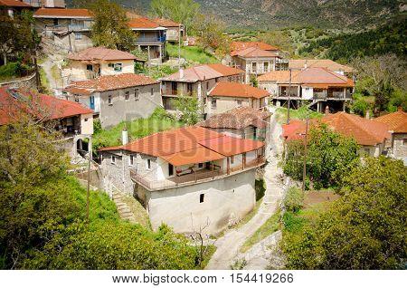 Valtessiniko village located in Arcadia Peloponnese Greece