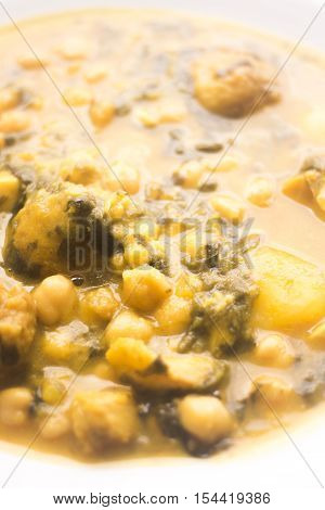 Chick Pea Spanish Tapas Dish