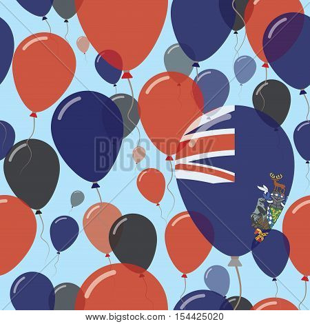 South Georgia And The South Sandwich Islands National Day Flat Seamless Pattern.. Flying Celebration