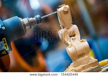 Woodworking CNC milling machine.