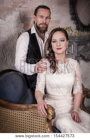 Young Lovely Wedding Couple