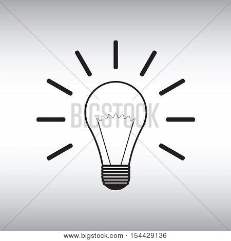 Lightbulb vector icon. Lightbulb vector sign. Lightbulb vector image.