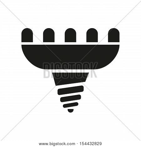 The led lamp icon. Lamp and bulb, lightbulb, CFL, luminodiode symbol.UI. Web. Logo. Sign. Flat design. App. Stock vector