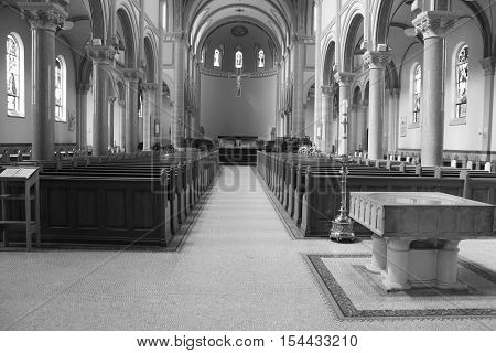 St. Vincent's Basilica is a beautiful 100-year-old religious edifice that is home to thousands of parishioners in Latrobe, Pennsylvania.