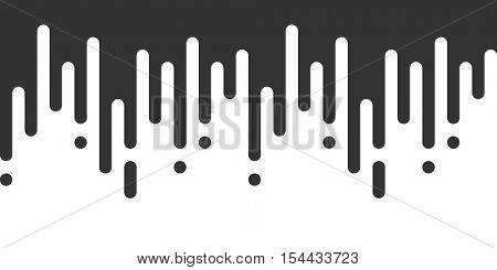 Vector Seamless Pattern with Flat Rounded Lines, Abstract Drops Gradient. Vector illustration