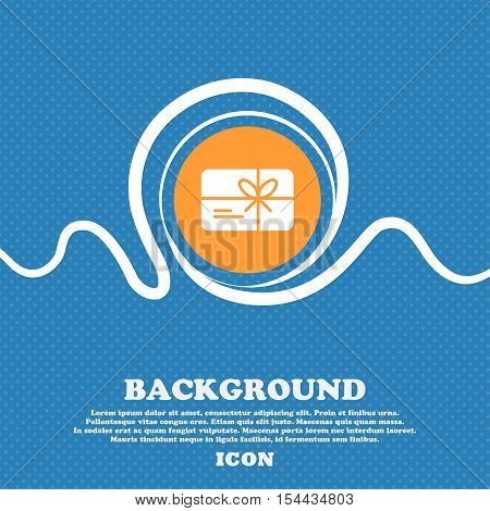 Certificate Icon Sign. Blue And White Abstract Background Flecked With Space For Text And Your Desig