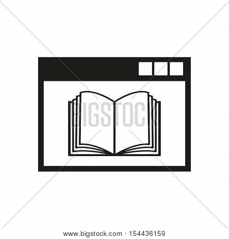 Online education icon. vector design. symbol. web. graphic.app. logo. object. flat. image. sign. eps. art. picture - stock vector