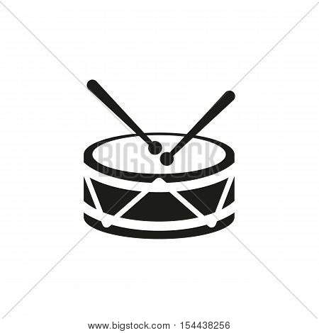 Drum icon. design. Music and toy symbol. web. graphic. AI. app. logo. object. flat. image. sign. eps. art. picture - stock vector