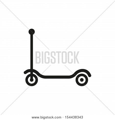 Kick scooter icon. design. Toy symbol. web. graphic. AI. app. logo. object. flat. image. sign. eps. art. picture - stock vector