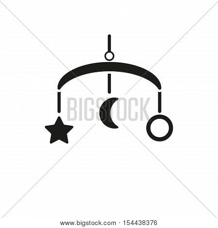 Baby bed carousel icon. design. Toy symbol. web. graphic. AI. app. logo. object. flat. image. sign. eps. art. picture - stock vector