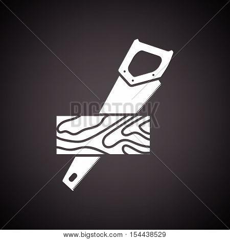 Handsaw Cutting A Plank Icon