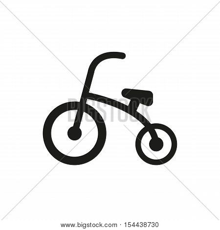 Tricycle icon. design. Bike, bicycle symbol. web. graphic. AI. app. logo. object. flat. image. sign. eps. art. picture - stock vector