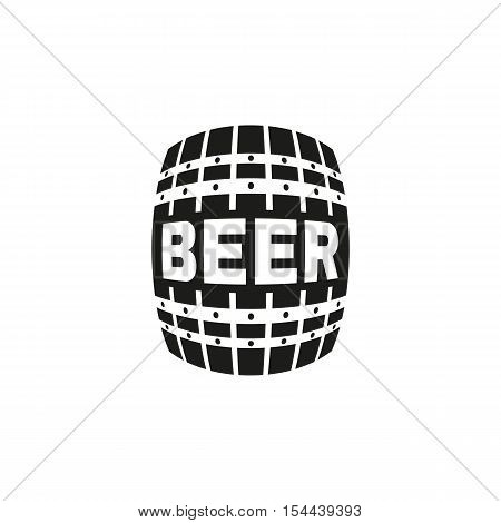 The Beer icon. Cask and keg, alcohol symbol. UI. Web. Logo. Sign. Flat design. App. Stock vector