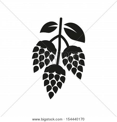 Hops icon. Beer and hop symbol. UI. Web. Logo. Sign. Flat design. App.Stock vector