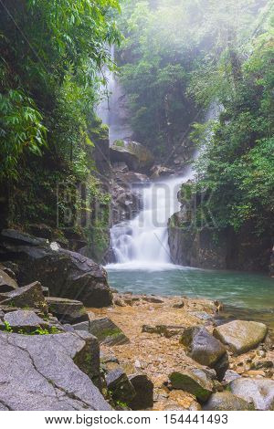 Amazing Beautiful Waterfalls In Deep Forest At Phlio Waterfall