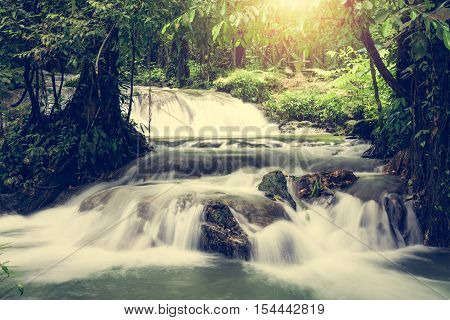 Sa Nang Manora Cascade Waterfall, Phang Nga, Thailand
