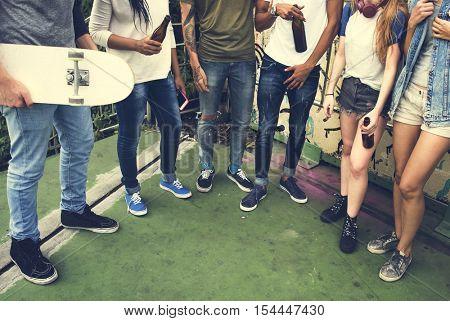 Friends Hipster Teenager Buddies Concept