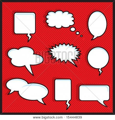 Red Halftone With Speech Bubbles