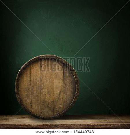 Brick wall and barrel winery, wood, wooden