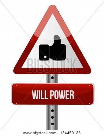 Will Power Like Sign Concept Illustration