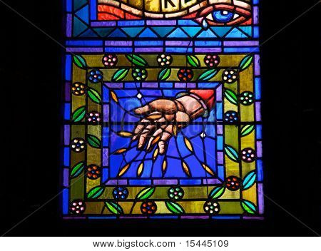 Stained glass window, St. Vitus Cathedral