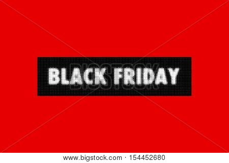 Design template with text Black Friday. Black Friday sales banner. Black Friday on red background. Black friday design illustration. Black Friday vector illustration.