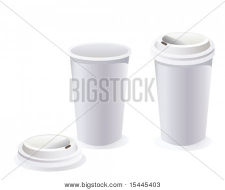 coffee cup with path