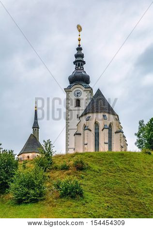 Parish church in Lieding village near Strassburg Carinthia Austria