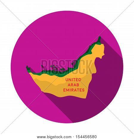 Territory of United Arab Emirates icon in flat style isolated on white background. Arab Emirates symbol vector illustration.