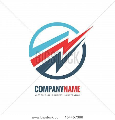 Electronic technology - vector logo template concept illustration. Lightning electricity power sign. Abstract business company symbol. Design element.