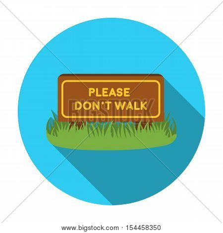 Please do not walk icon in flat style isolated on white background. Park symbol vector illustration.