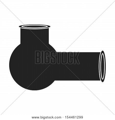 Hashish pipe icon in black style isolated on white background. Drugs symbol vector illustration.