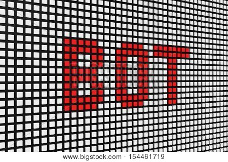 bot in the form of an information Board 3D illustration