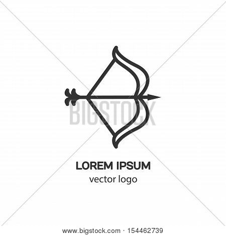 Vector logo design template for sagittarius badge for websites and prints. Modern easy to edit logo template.