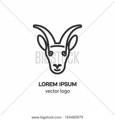Vector logo design template for capricorn badge for websites and prints. Modern easy to edit logo template.