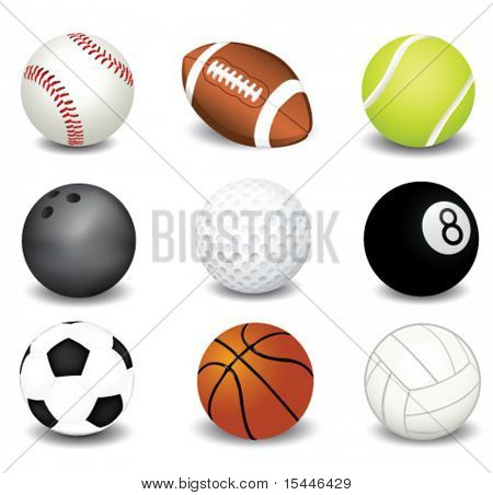 vector illustration of sport balls poster