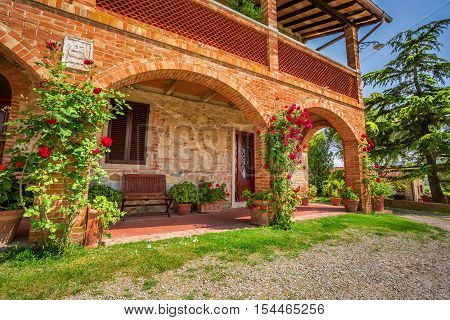 Rustic Tuscany Rural house in summer Italy